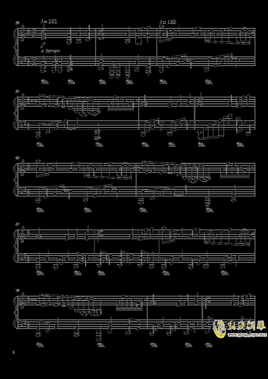 夜が降りてくる ~ Evening Star钢琴谱 第6页
