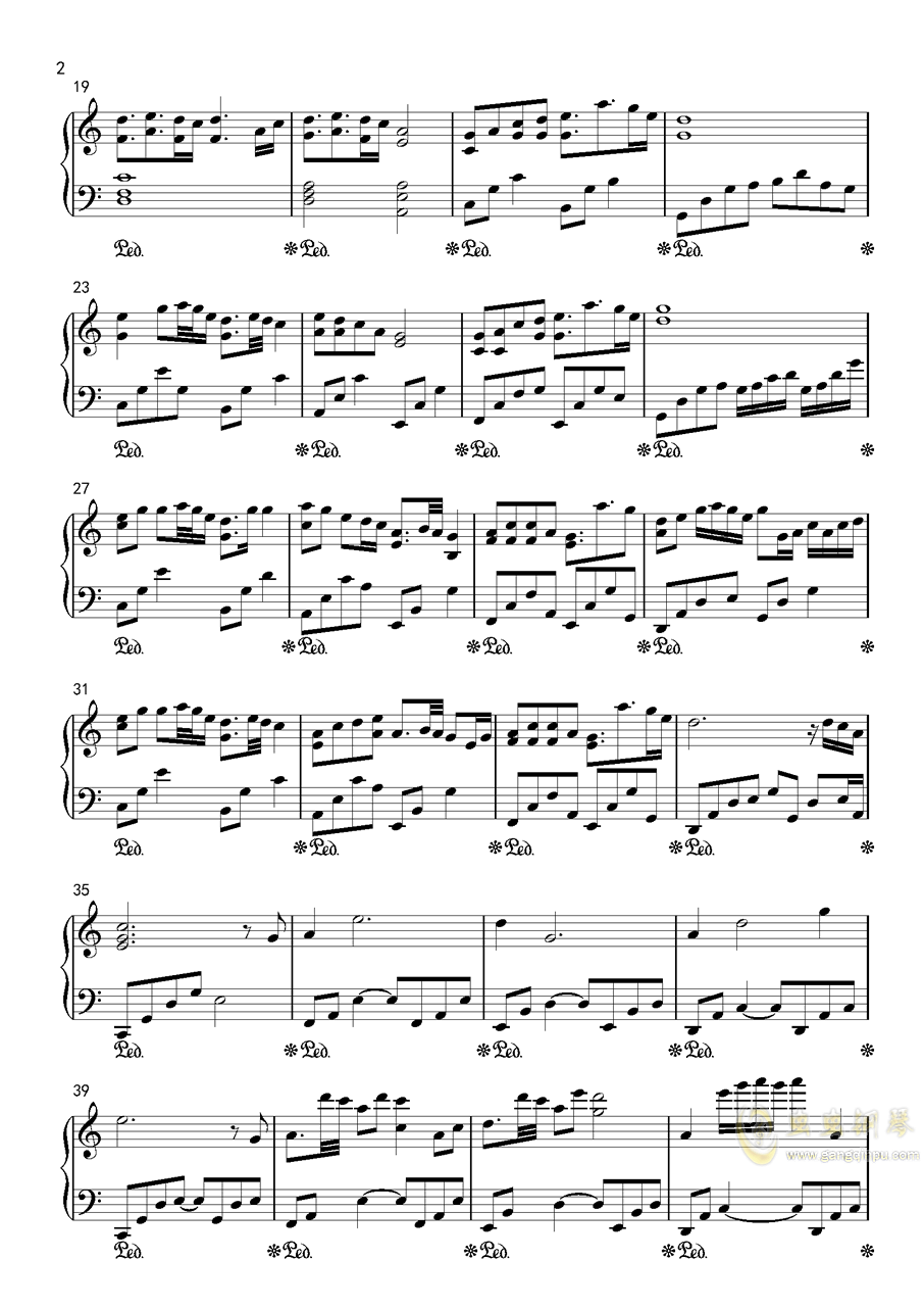 傲钢琴谱 第2页