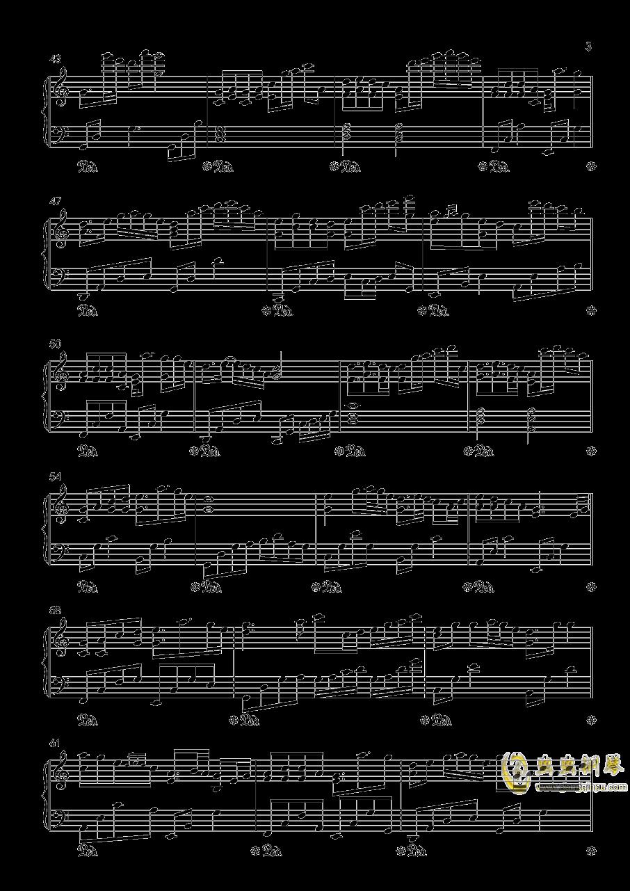 傲钢琴谱 第3页