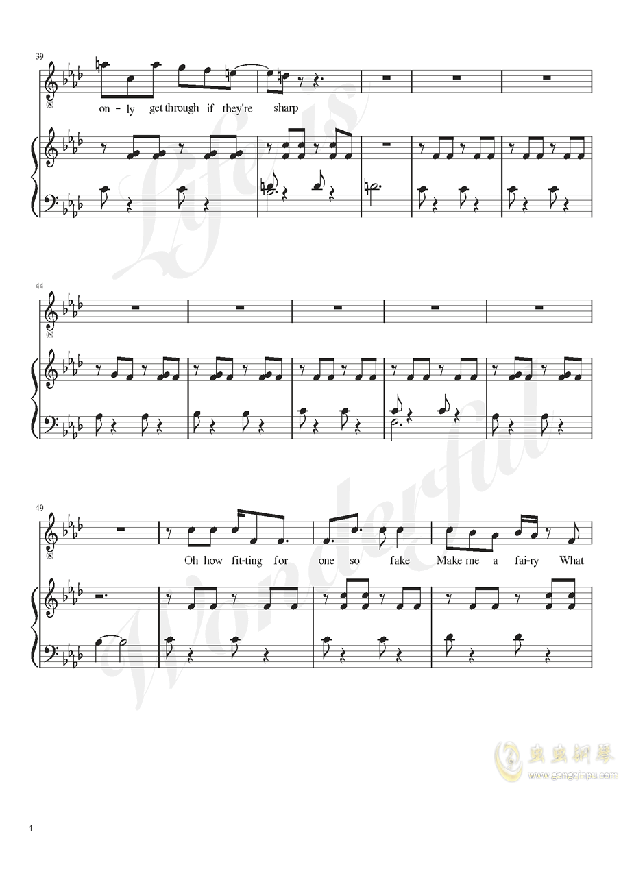 Burned out钢琴谱 第4页