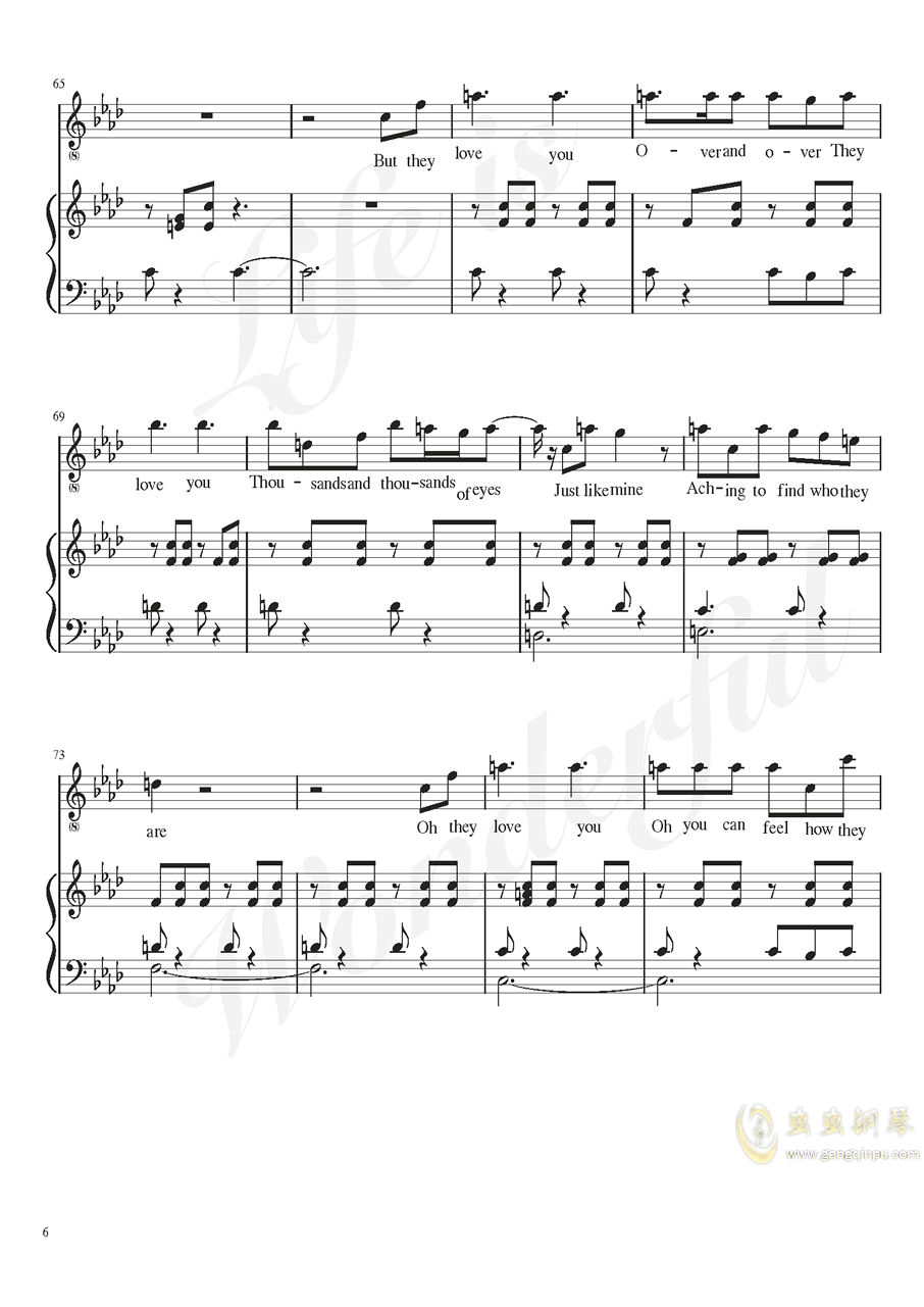 Burned out钢琴谱 第6页