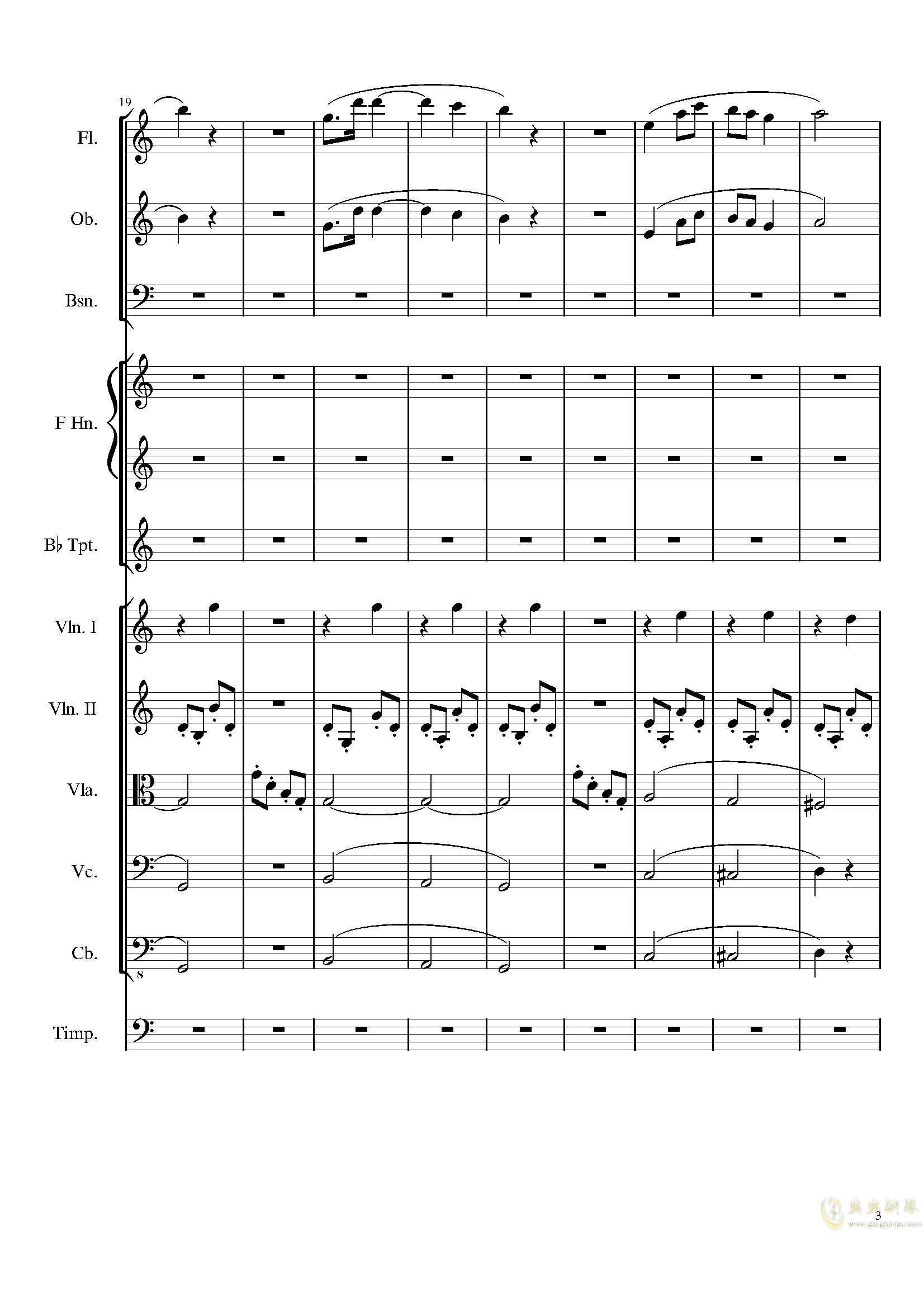 Contradance in C, Op.128钢琴谱 第3页