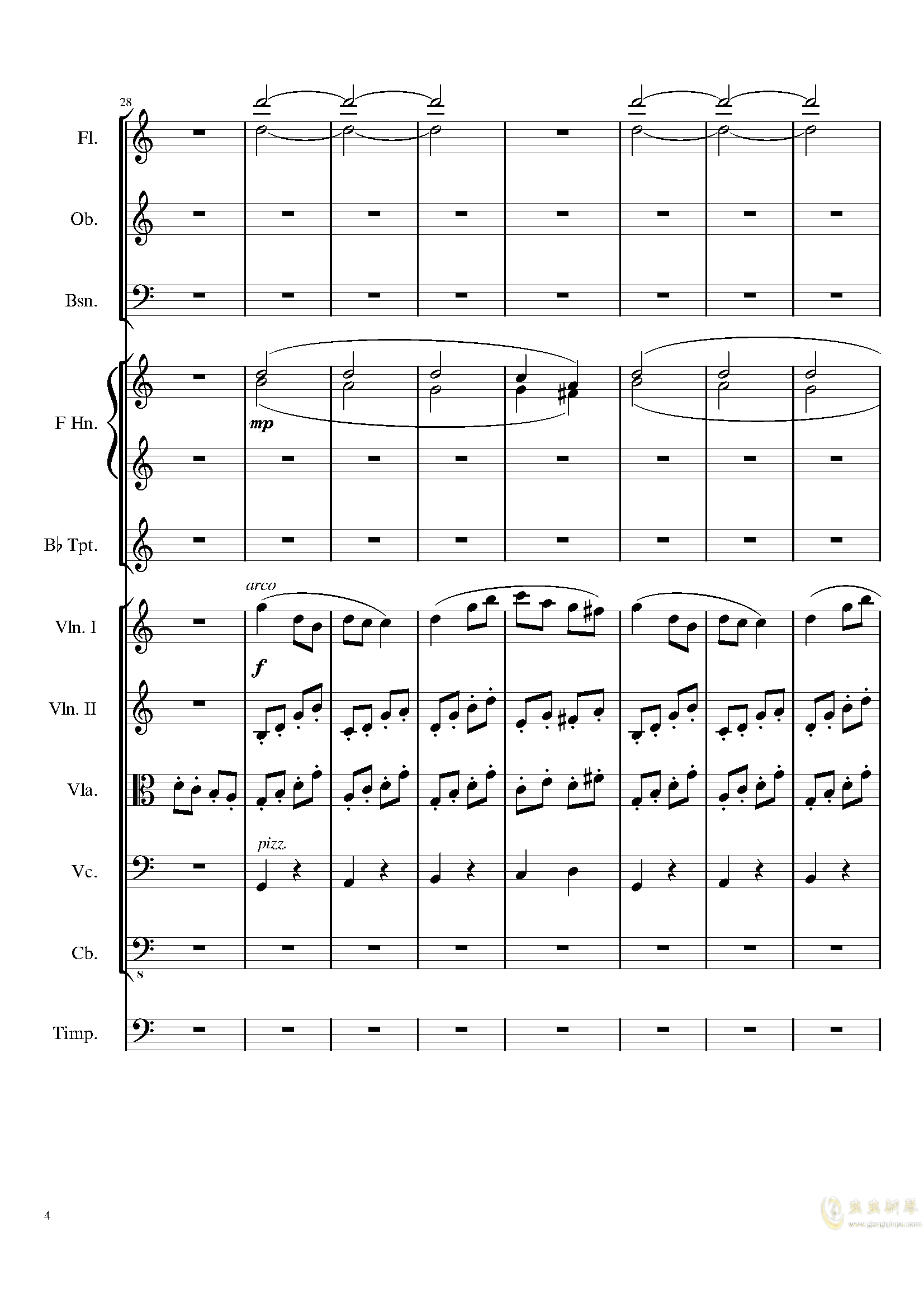 Contradance in C, Op.128钢琴谱 第4页