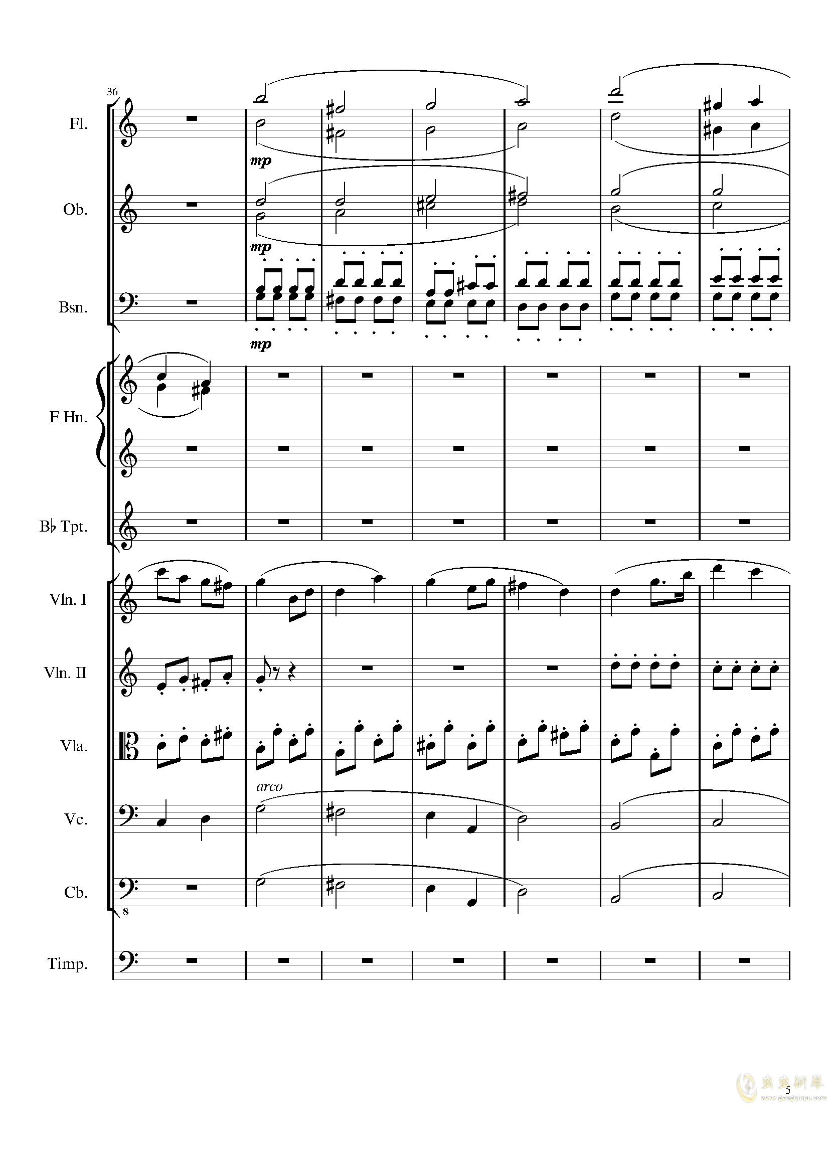 Contradance in C, Op.128�琴�V 第5�