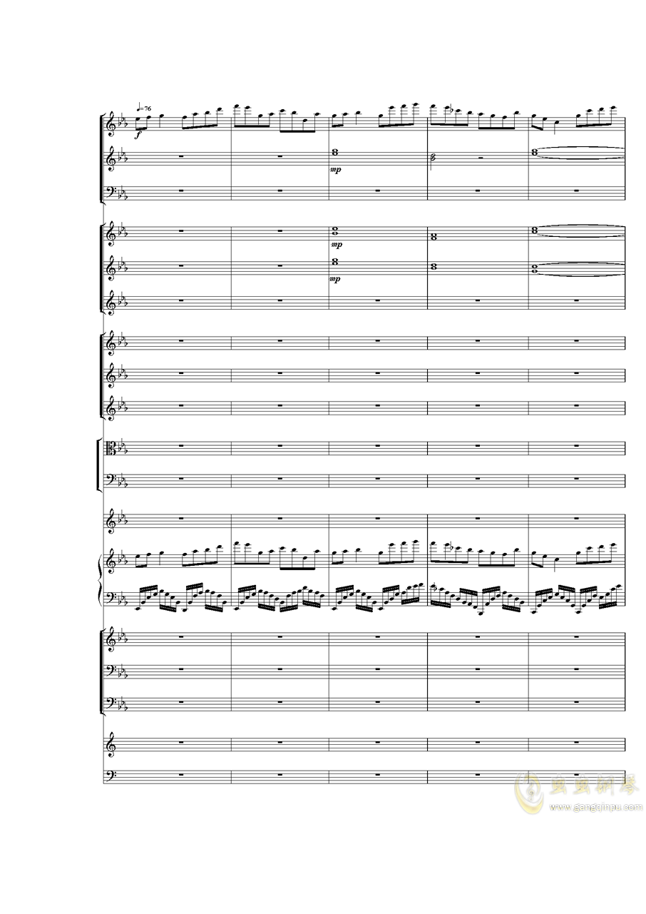 Piano Concerto No.3 in E Flat minor,I.ag88环亚娱乐谱 第20页