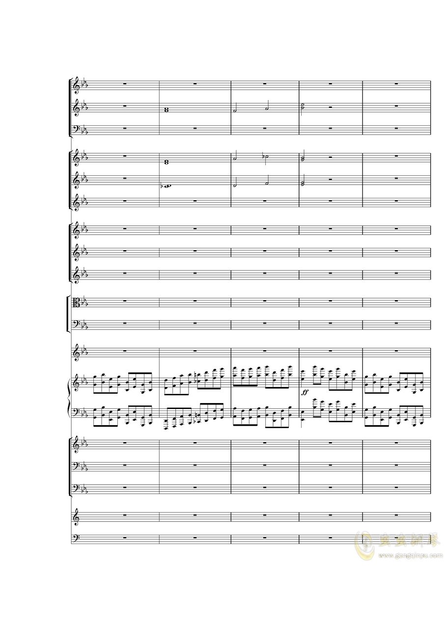 Piano Concerto No.3 in E Flat minor,I.ag88环亚娱乐谱 第22页