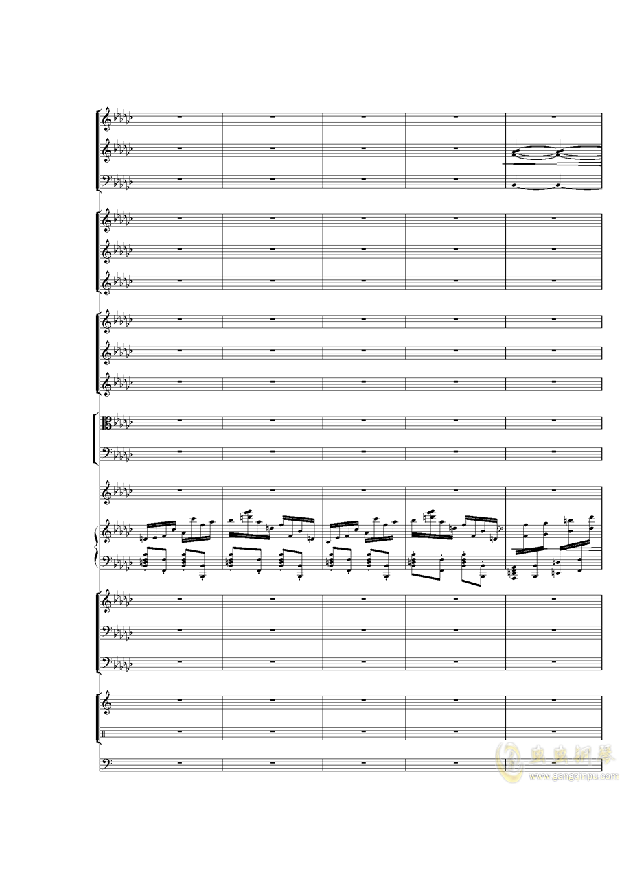 Piano Concerto No.3 in E Flat minor,I.ag88环亚娱乐谱 第31页