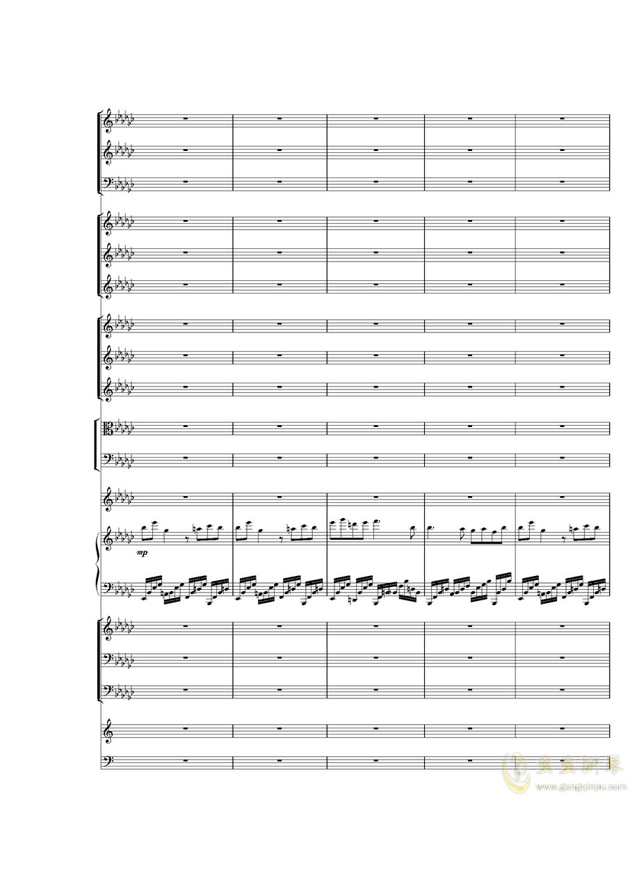 Piano Concerto No.3 in E Flat minor,I.�琴�V 第4�