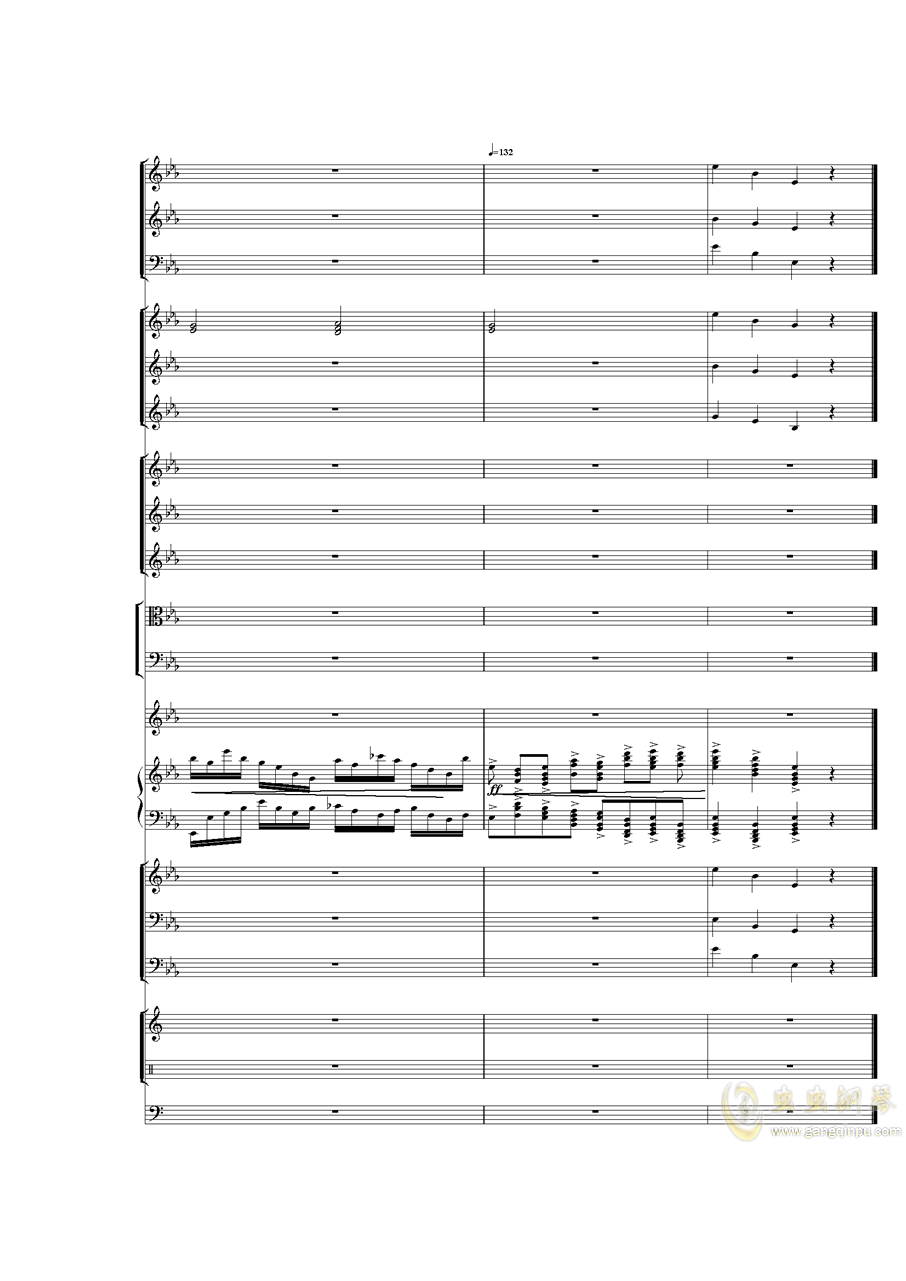 Piano Concerto No.3 in E Flat minor,I.ag88环亚娱乐谱 第48页