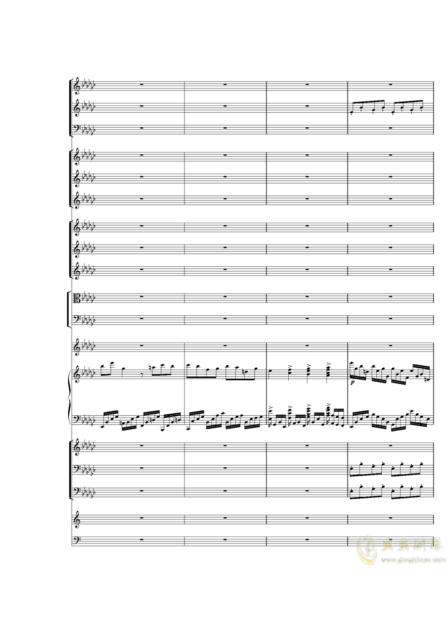 Piano Concerto No.3 in E Flat minor,I.ag88环亚娱乐谱 第5页