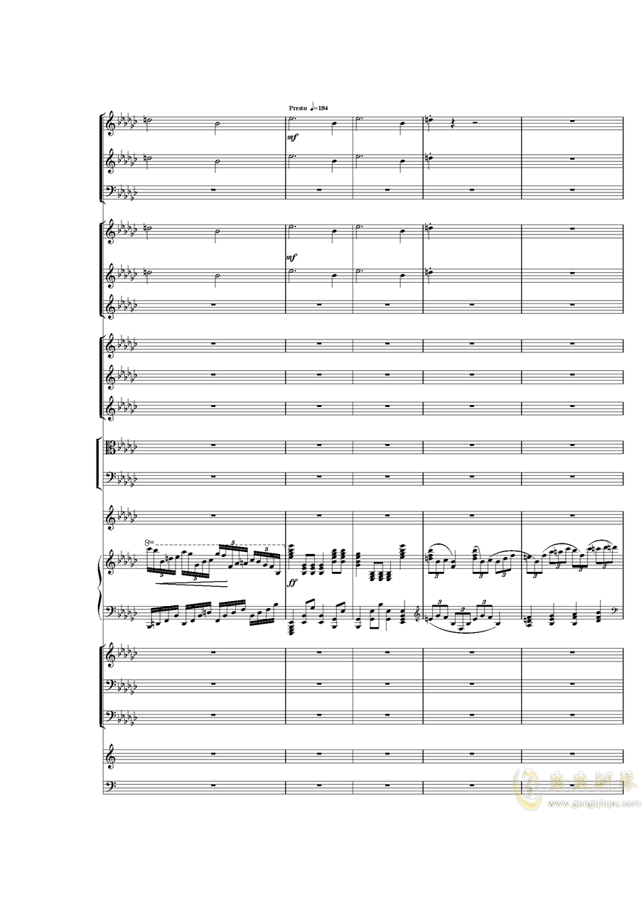 Piano Concerto No.3 in E Flat minor,I.�琴�V 第8�