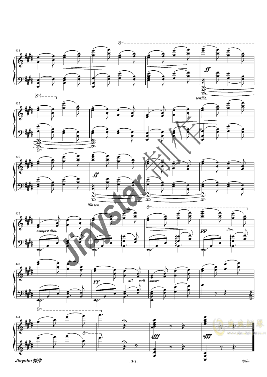 伏尔塔瓦河ag88环亚娱乐谱 第31页