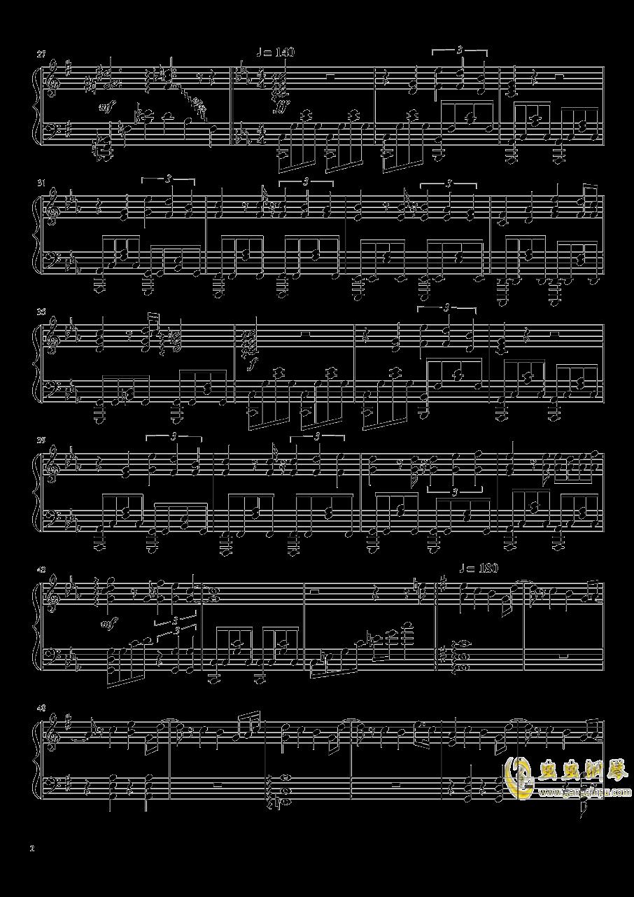 黑化神曲钢琴谱 第2页