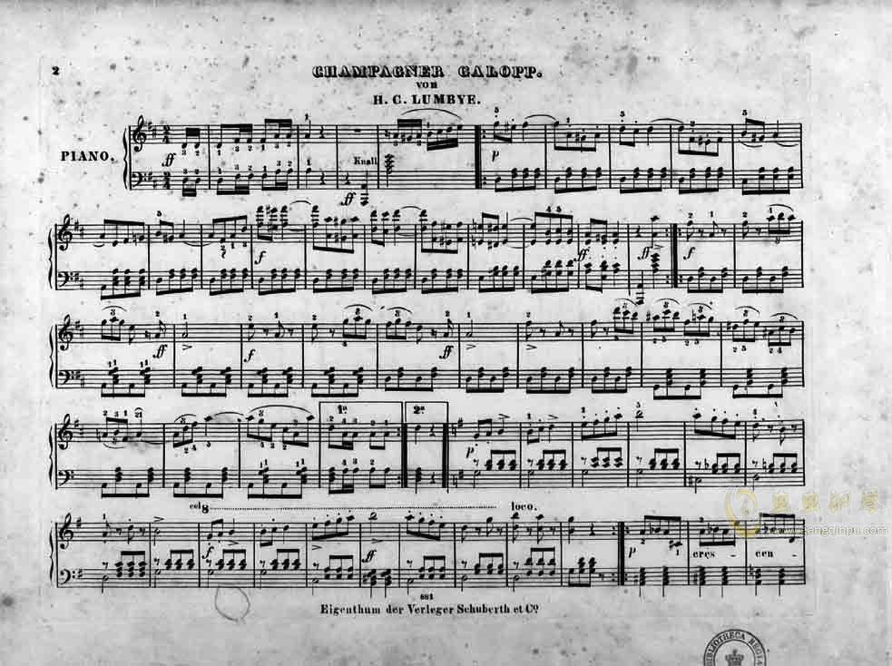 香槟加洛普钢琴谱 第2页
