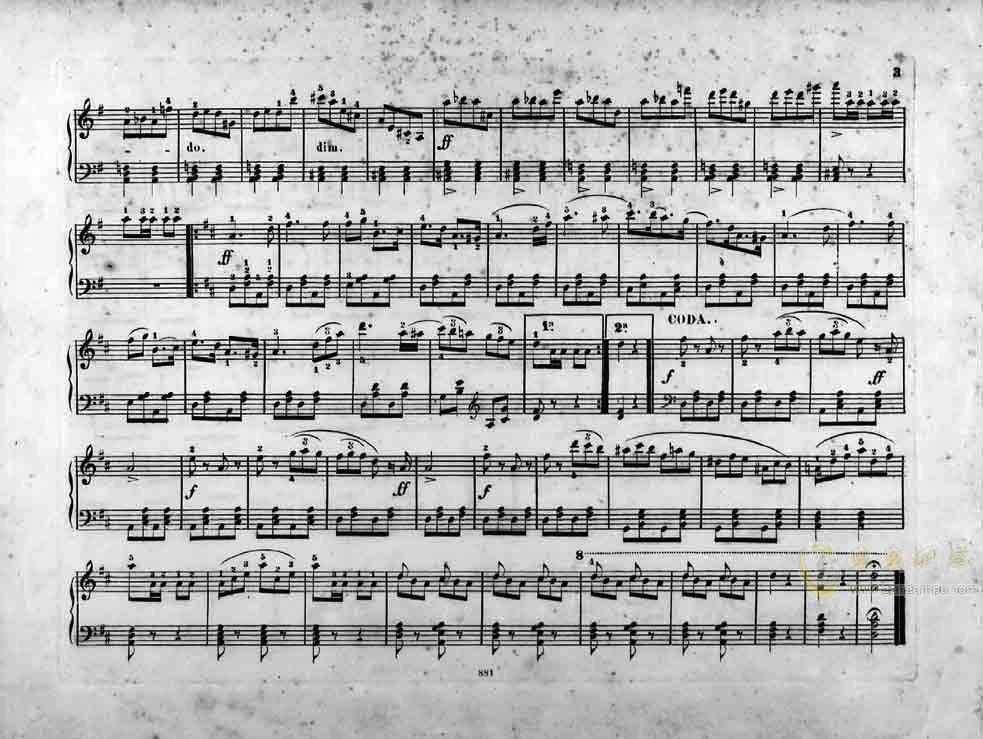香槟加洛普钢琴谱 第3页
