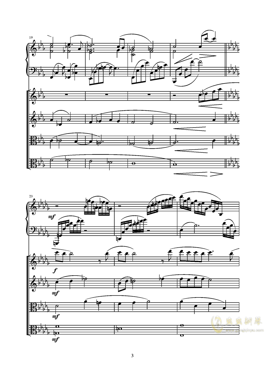 Piano Quintetag88环亚娱乐谱 第3页