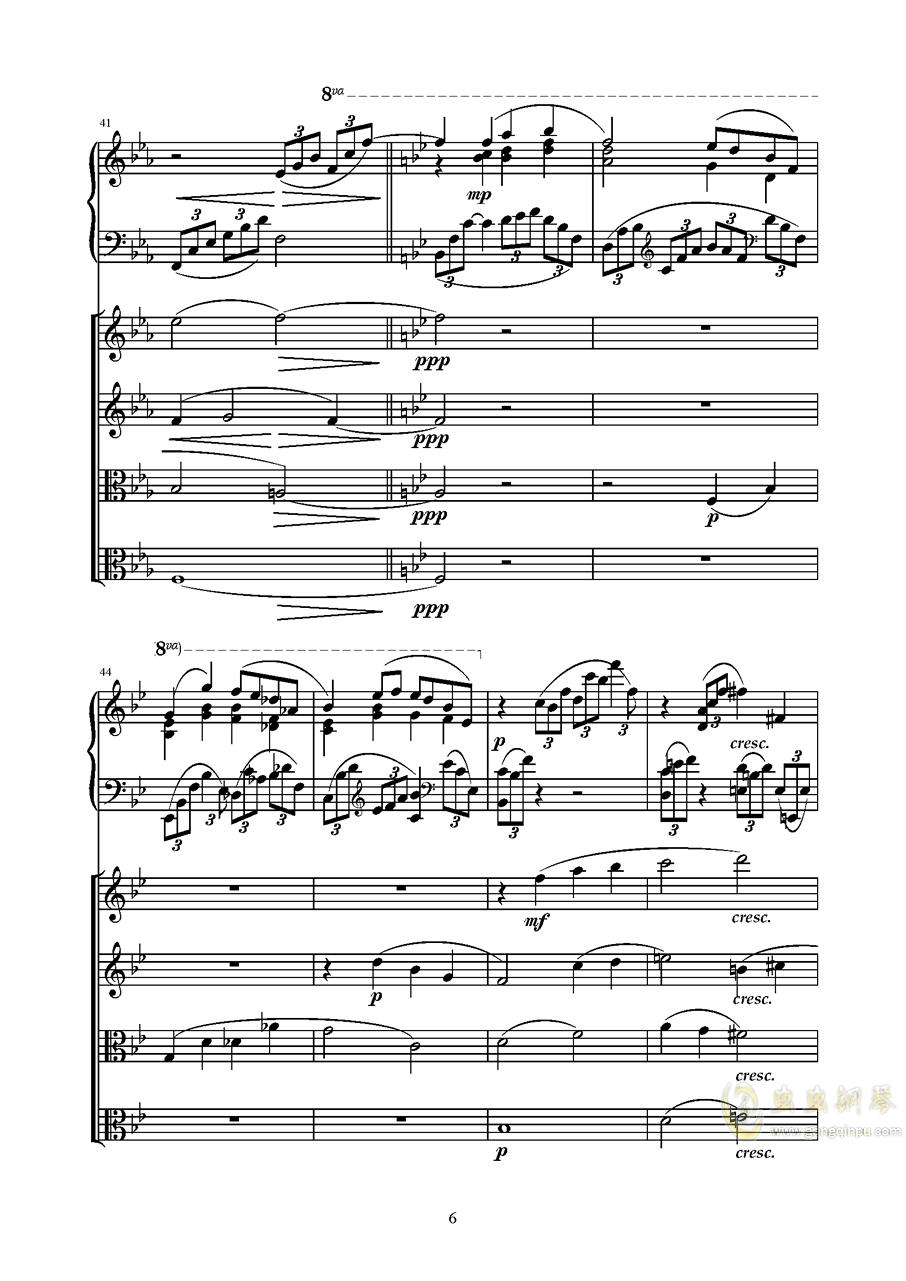 Piano Quintetag88环亚娱乐谱 第6页