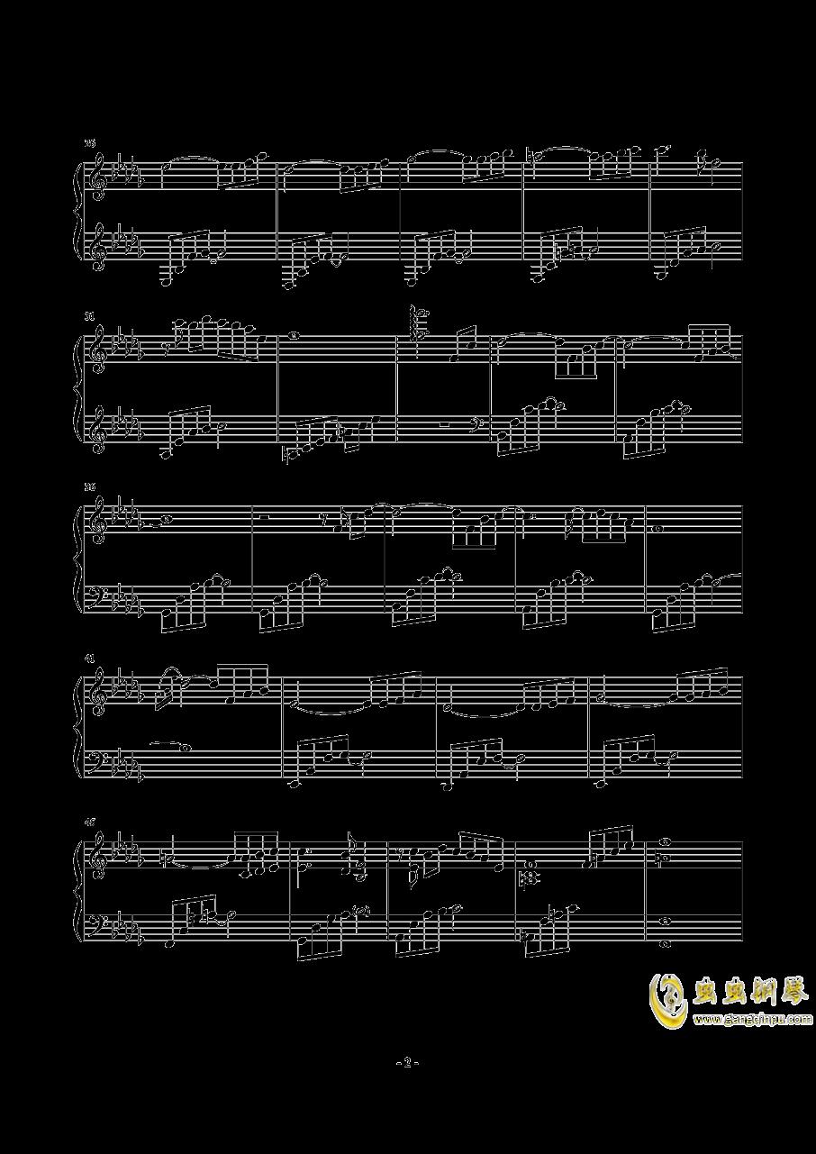 天空の悲恋歌钢琴谱 第2页