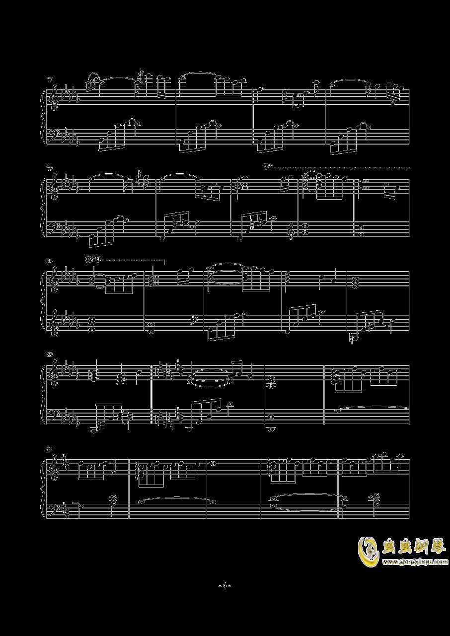 天空の悲恋歌钢琴谱 第4页