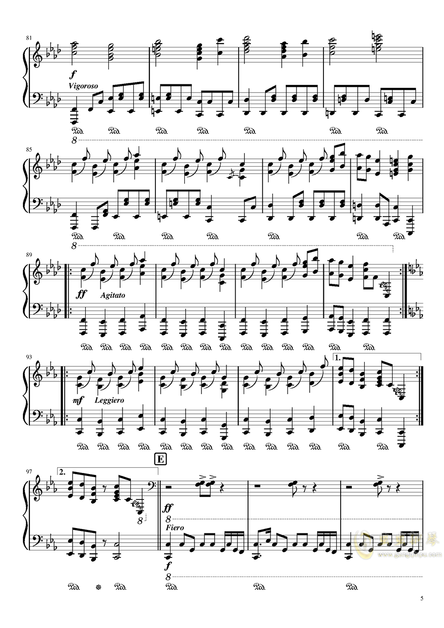始原のビ�`ト钢琴谱 第5页