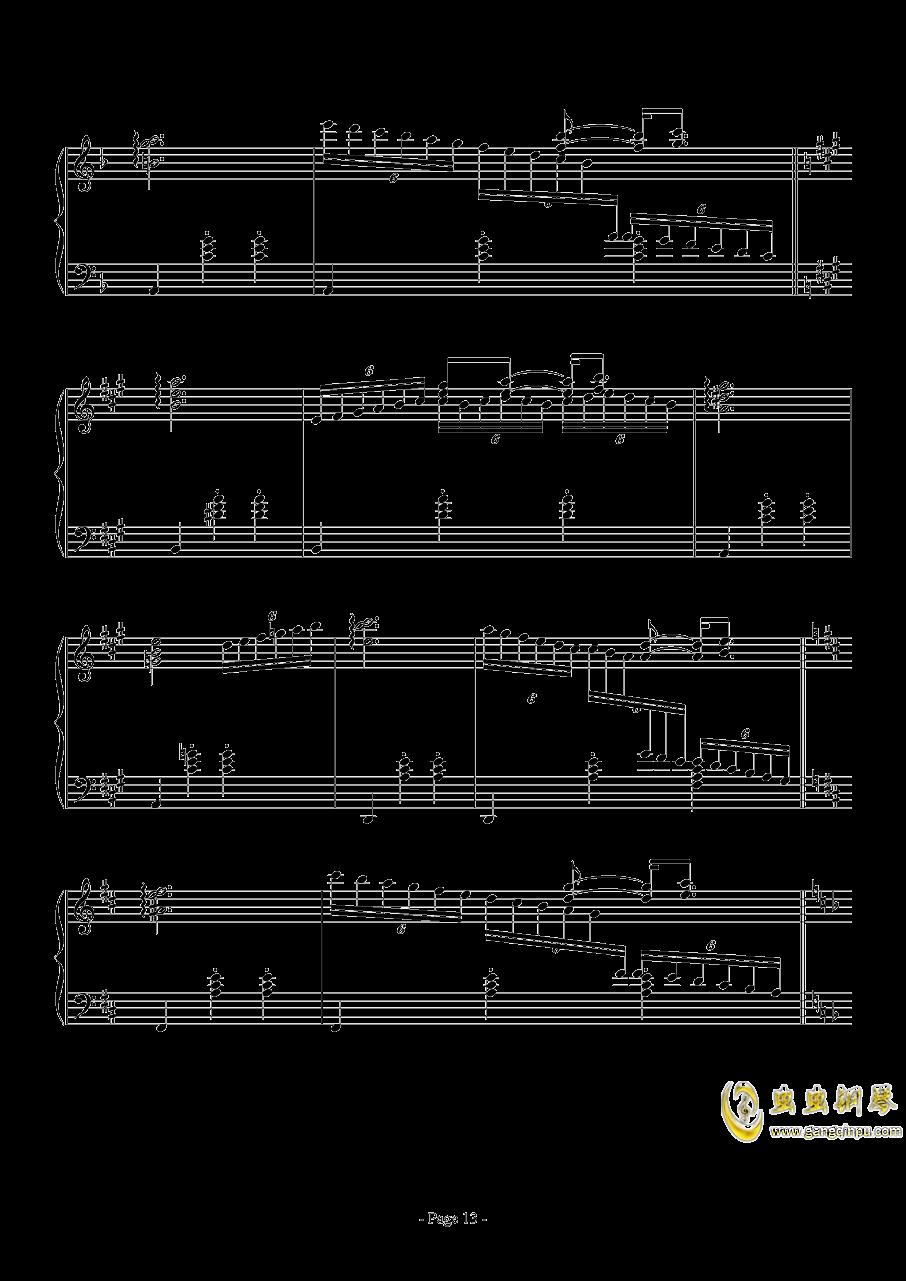 消遣钢琴谱 第13页