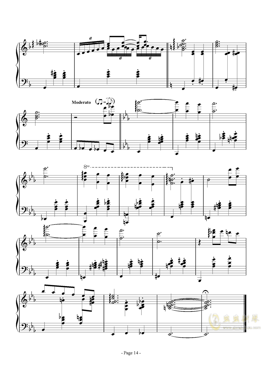 消遣钢琴谱 第14页