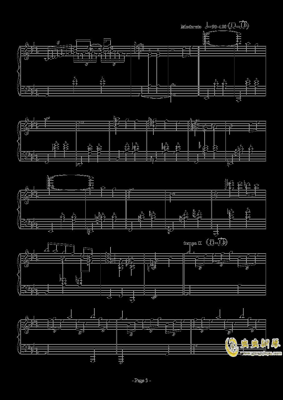 消遣钢琴谱 第3页