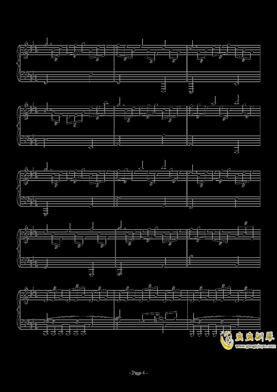 消遣钢琴谱 第4页