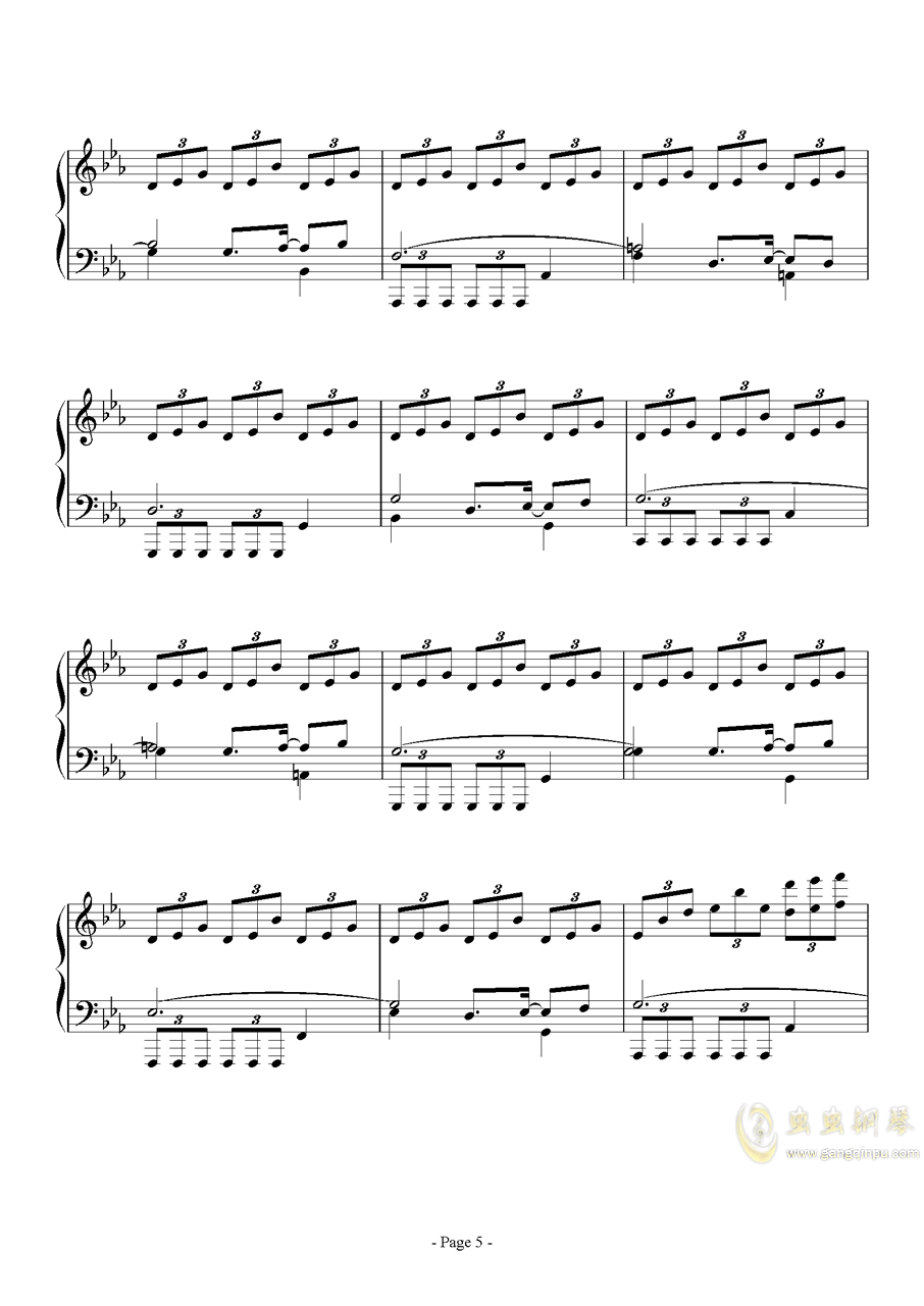 消遣钢琴谱 第5页