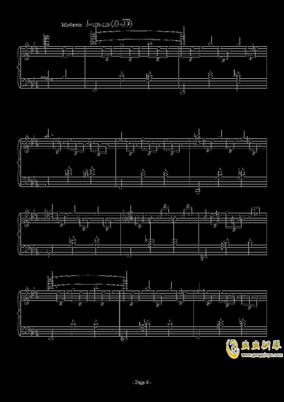 消遣钢琴谱 第6页
