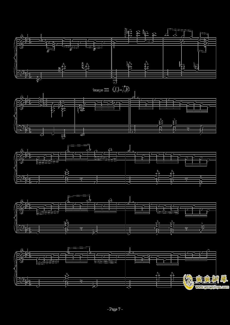 消遣钢琴谱 第7页
