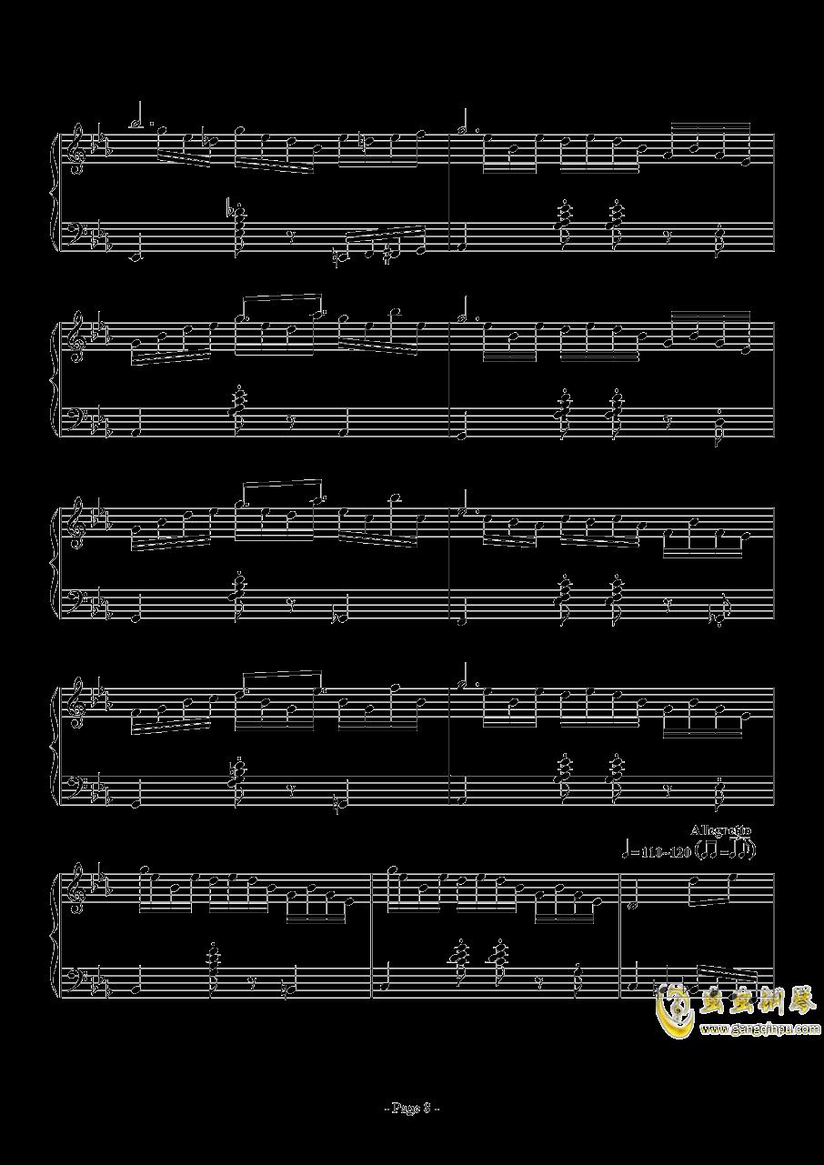 消遣钢琴谱 第8页