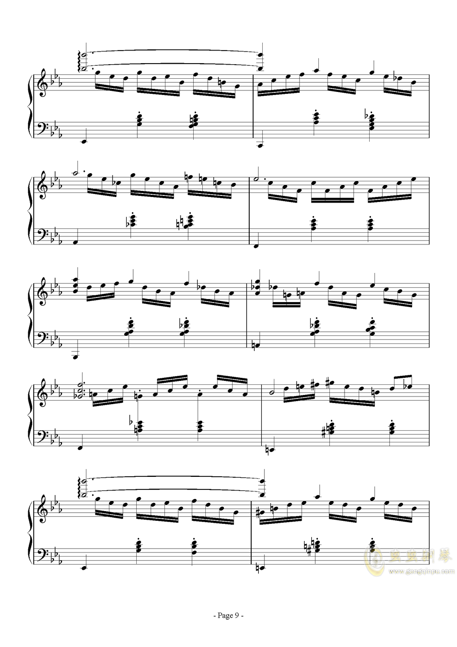 消遣钢琴谱 第9页