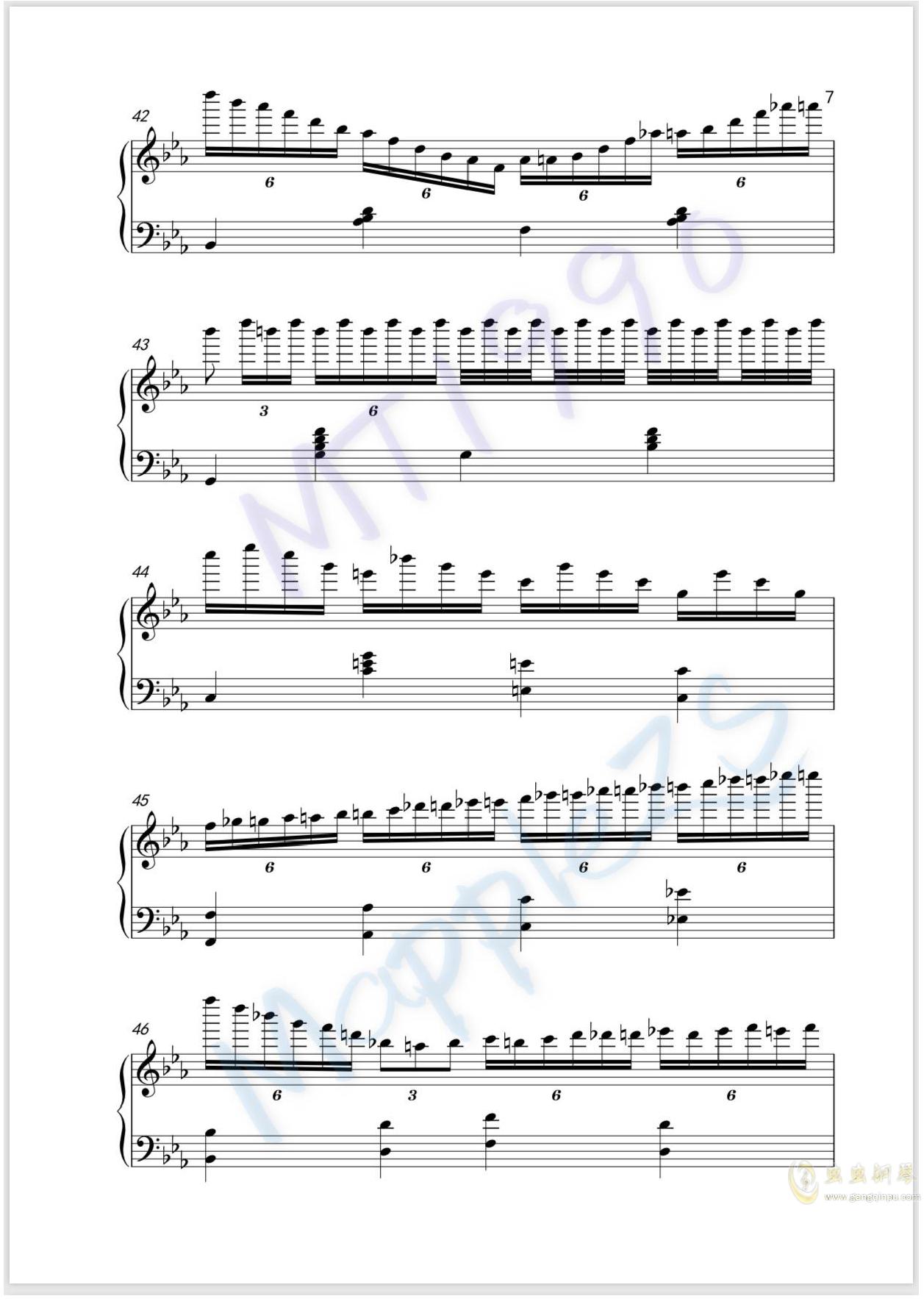 流光练习曲钢琴谱 第7页
