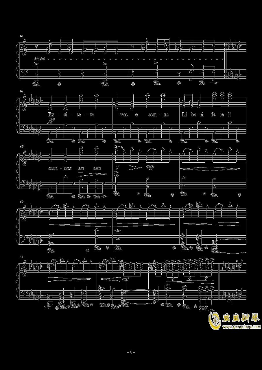 Liberi Fatali钢琴谱 第4页