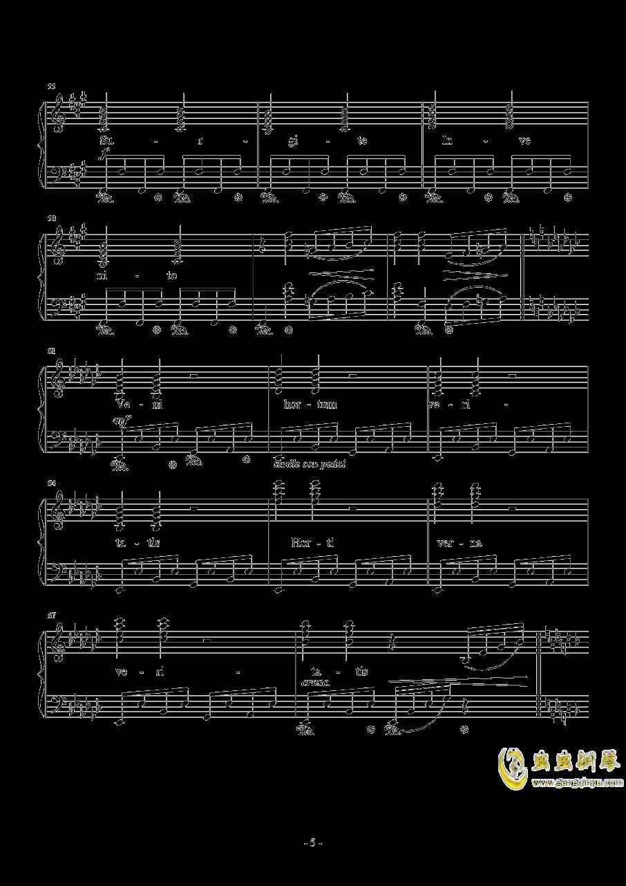 Liberi Fatali钢琴谱 第5页