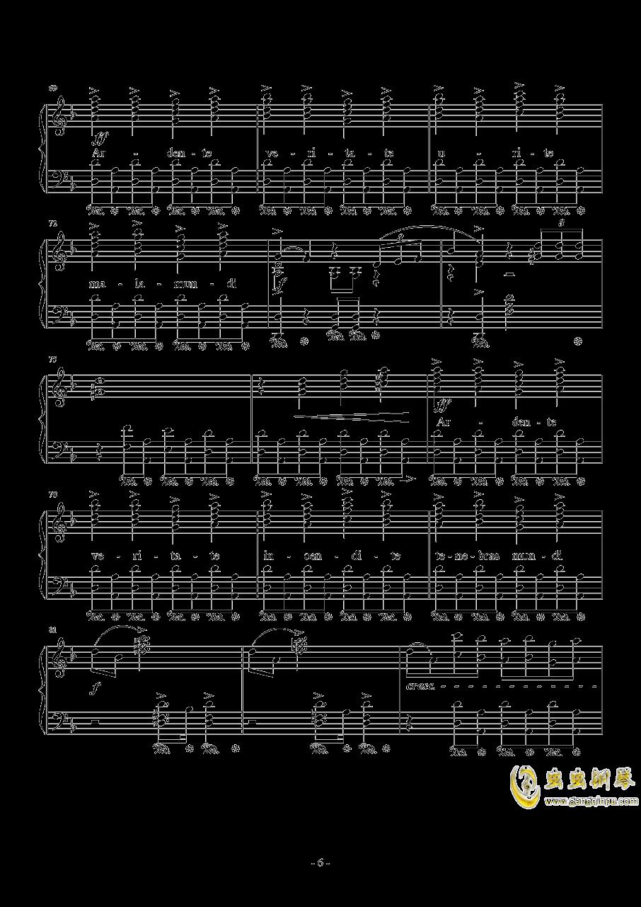 Liberi Fatali钢琴谱 第6页
