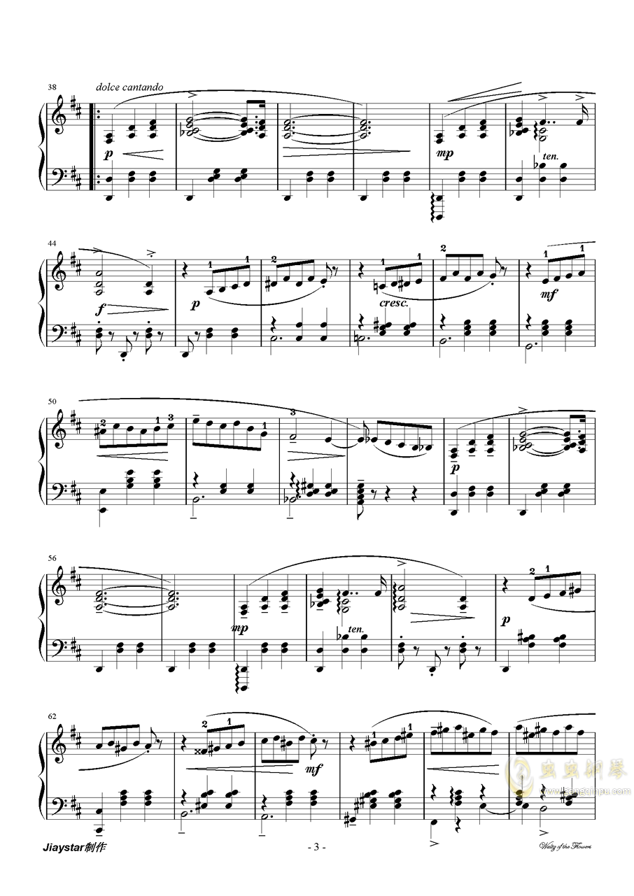 花的�A舞曲�琴�V 第3�
