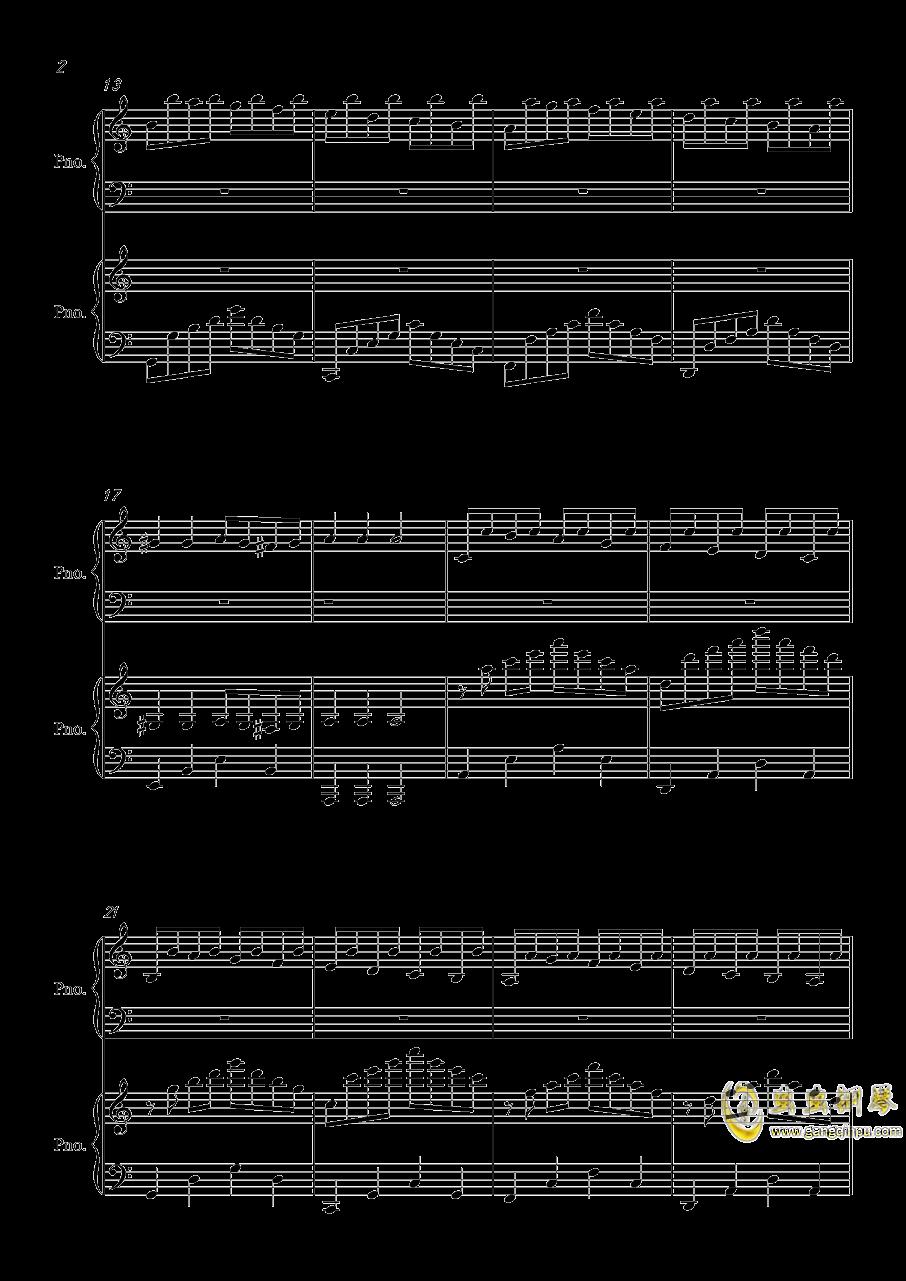 帕萨卡利亚钢琴谱 第2页