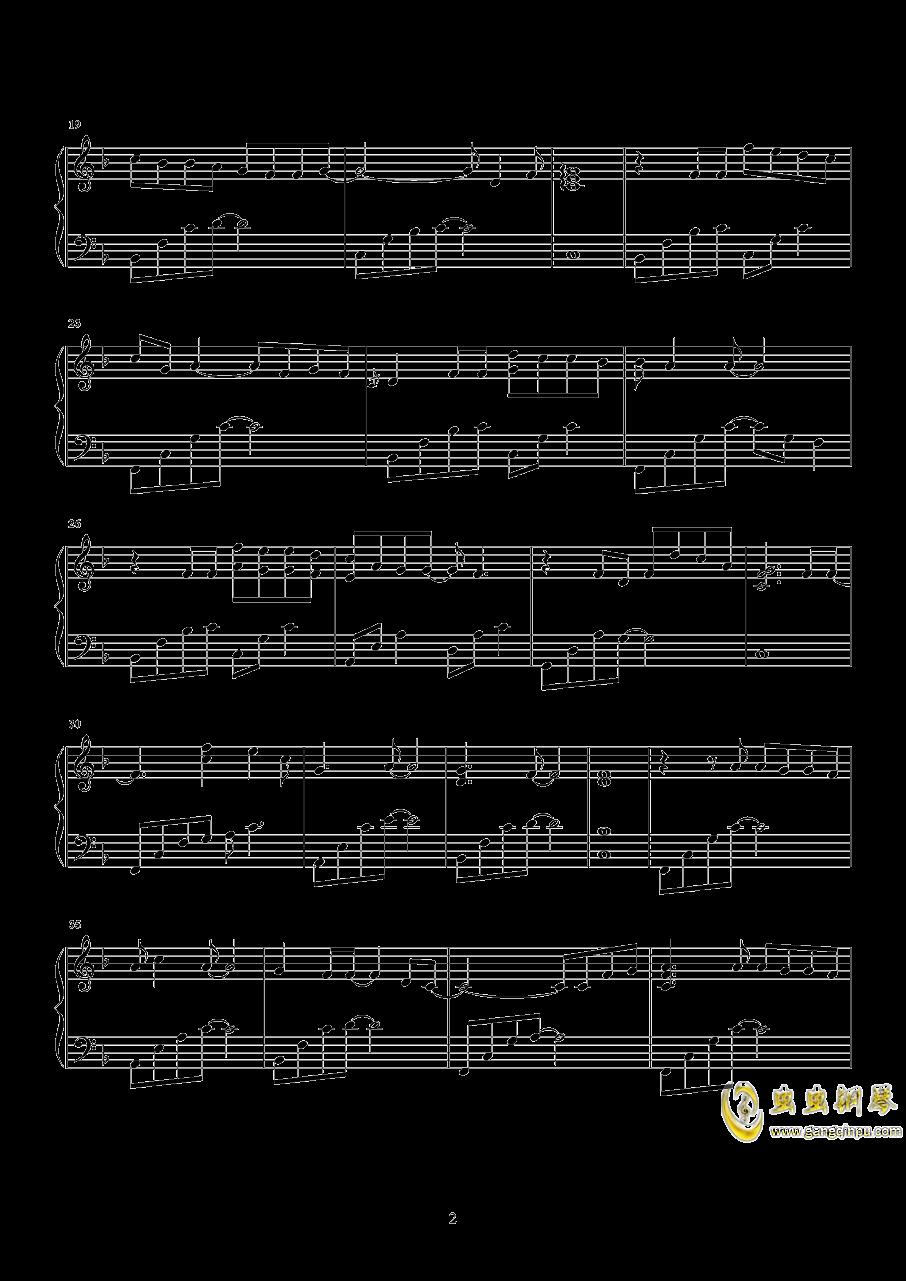 纸短情长钢琴谱 第2页