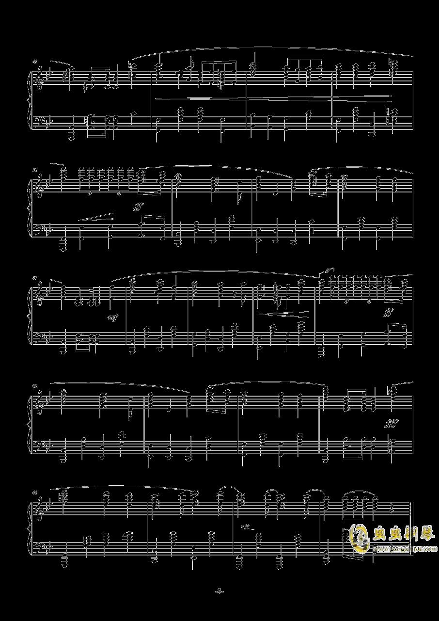 国际歌钢琴谱 第3页