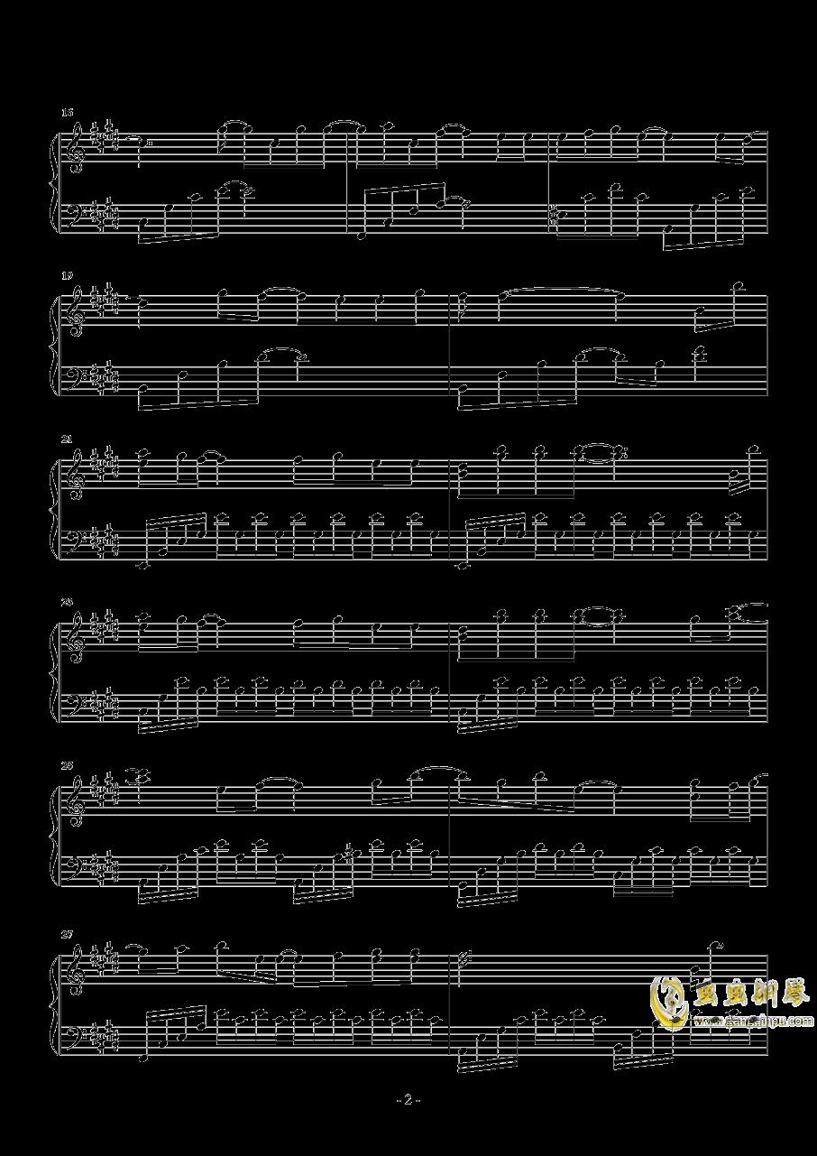 真的傻钢琴谱 第2页