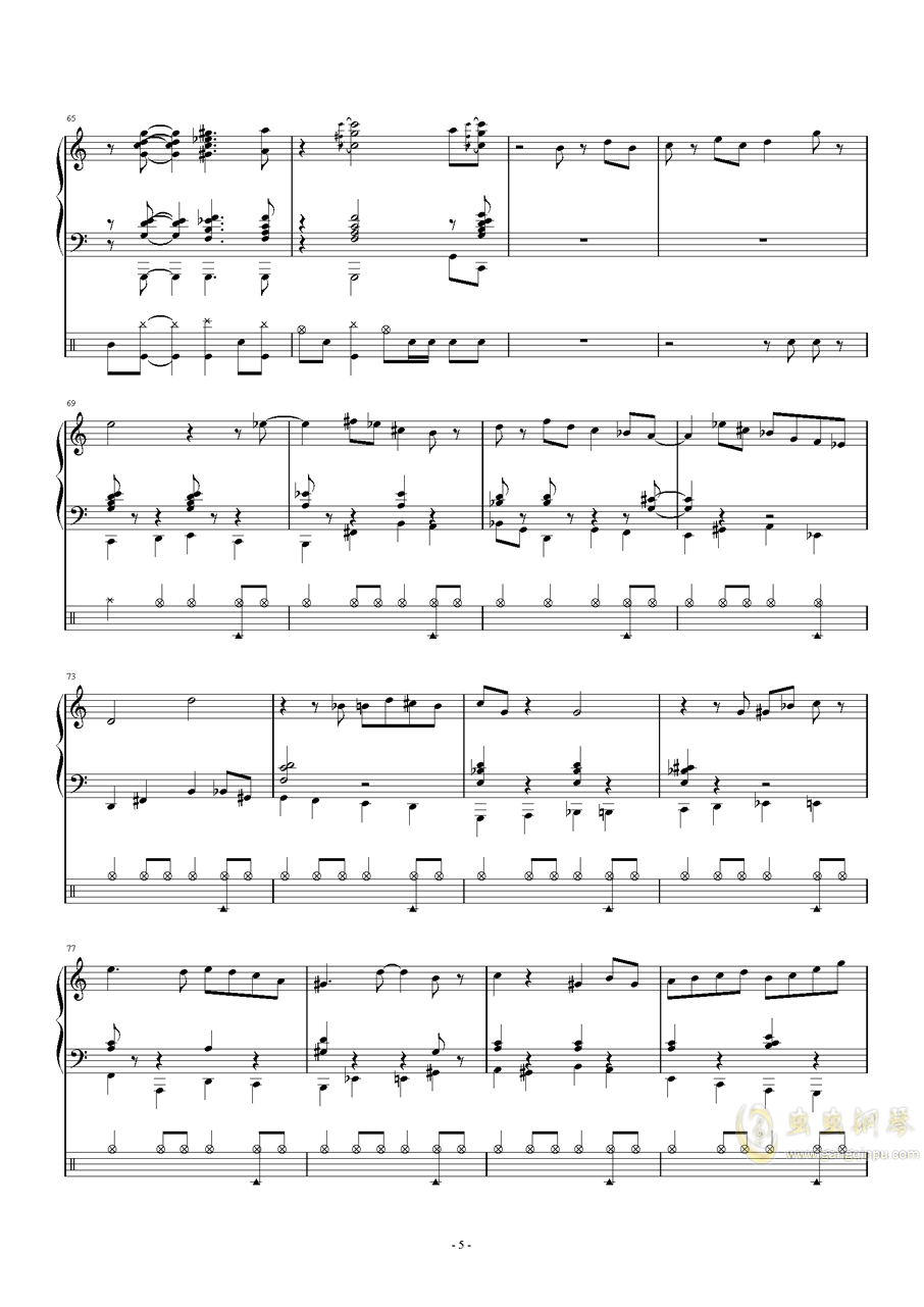 爵士鼓考��非��琴�V 第5�