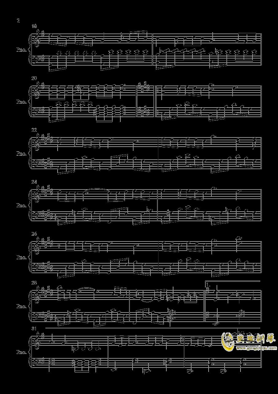 浮夸钢琴谱 第2页
