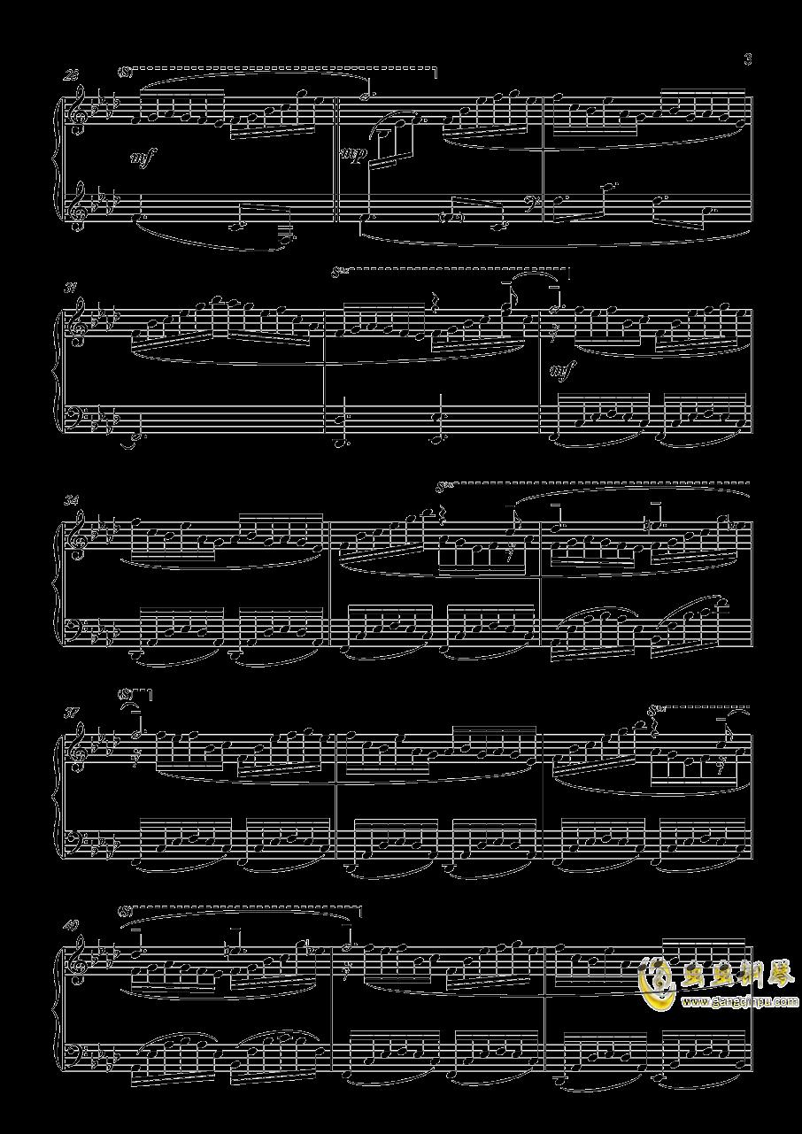 �}�uサレタ街(Copied City)钢琴谱 第3页
