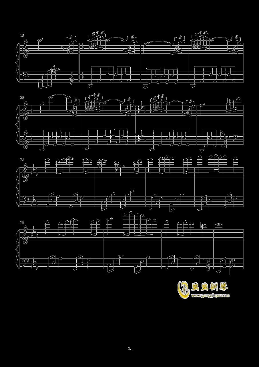 不死の国钢琴谱 第2页