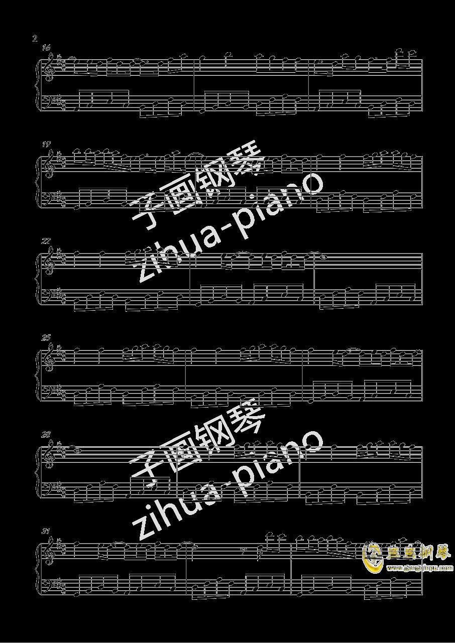 一百万个可能钢琴谱 第2页