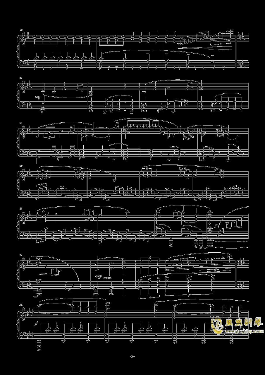 main theme钢琴谱 第2页