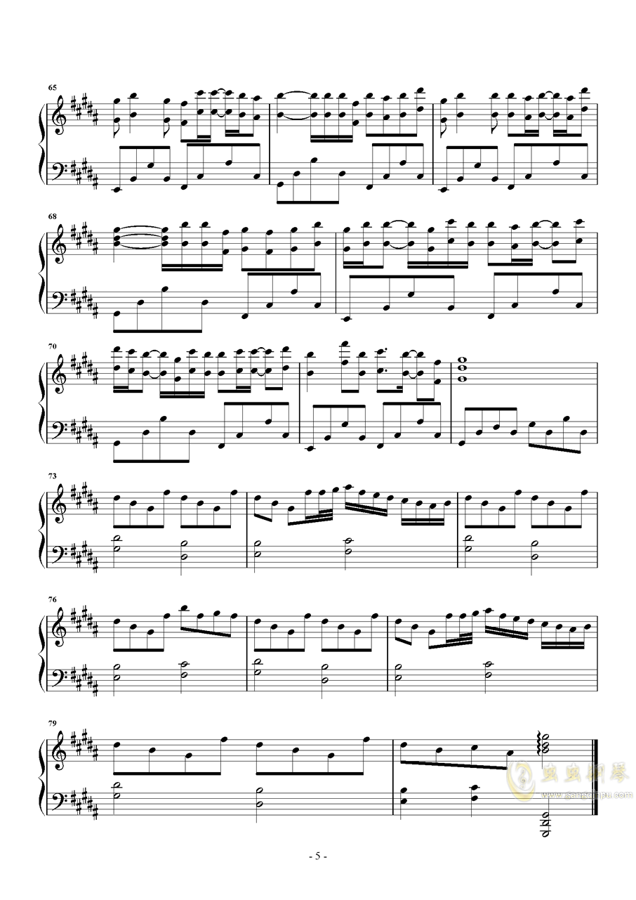 时光卷轴钢琴谱 第5页