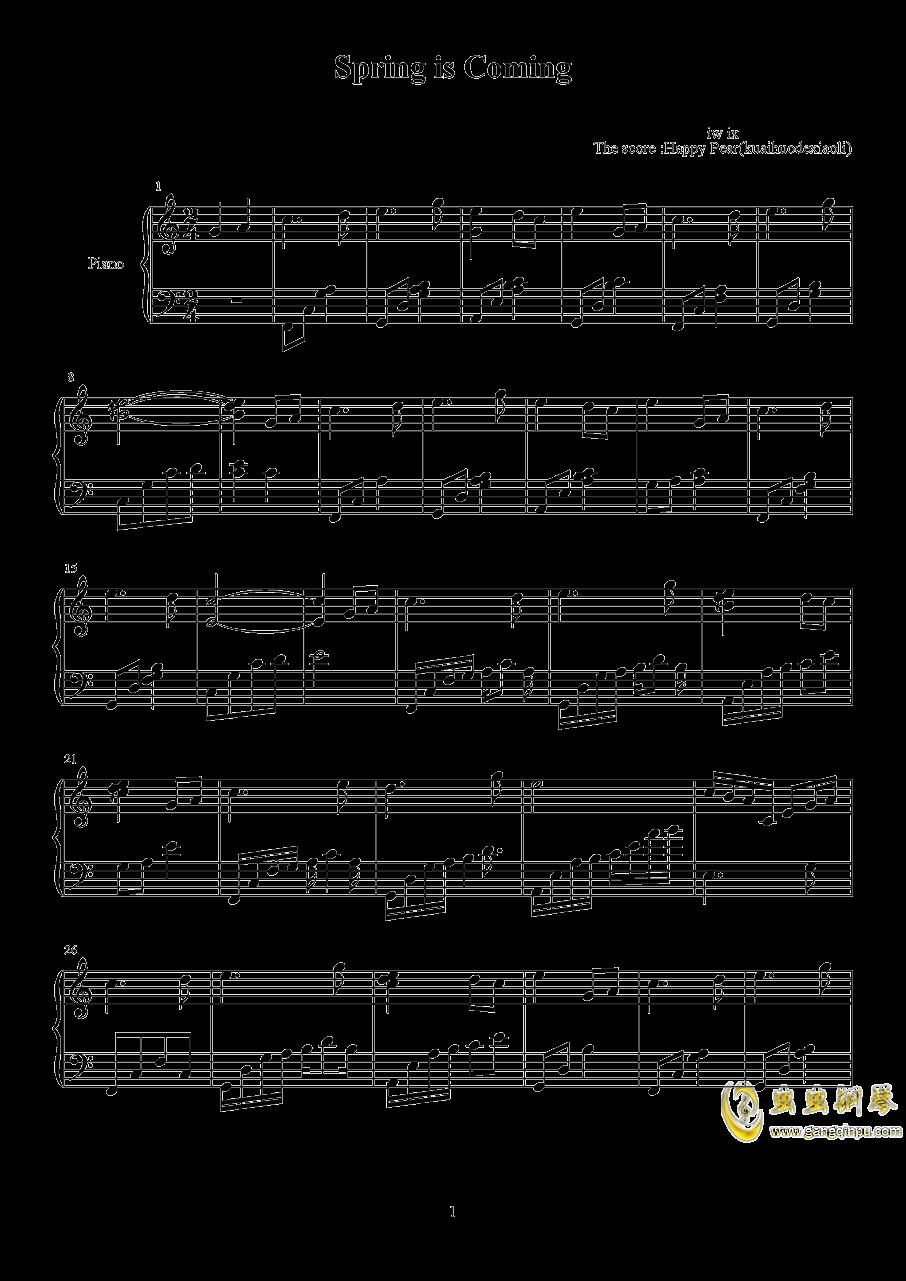 春来钢琴谱 第1页